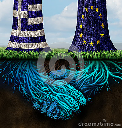 Free Greek Europe Agreement Royalty Free Stock Images - 56607049