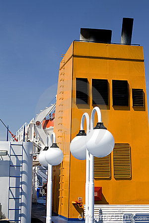 Free Greek Ferry Funnel Royalty Free Stock Photos - 10975488