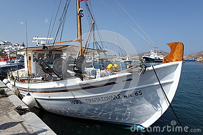 Greek fishing boat Editorial Photography