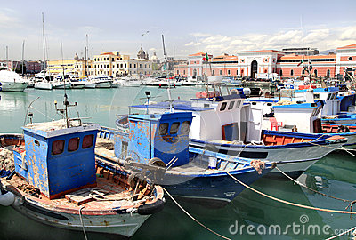 Greek Fishing Boats, Catania, Sicily Royalty Free Stock Photos - Image: 25127758