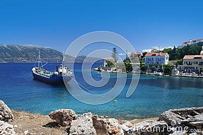 Greek fishing village