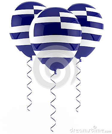 Greek flag balloon