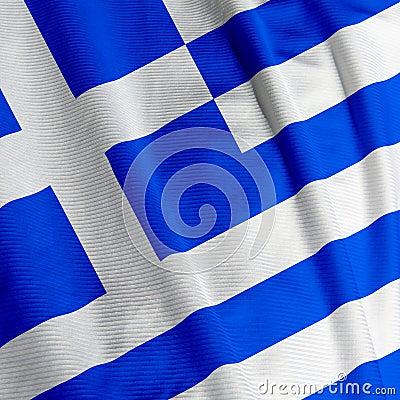 Greek Flag Closeup