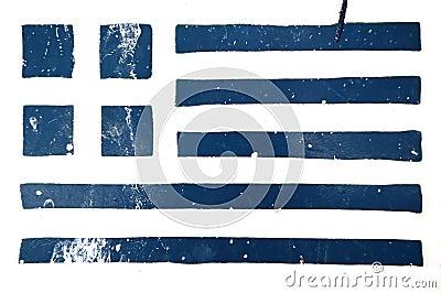 Greek flag grunge stencil