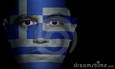 Greek Flag - Male Face