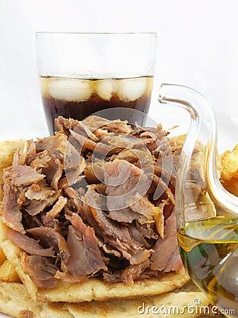 Greek food gyros