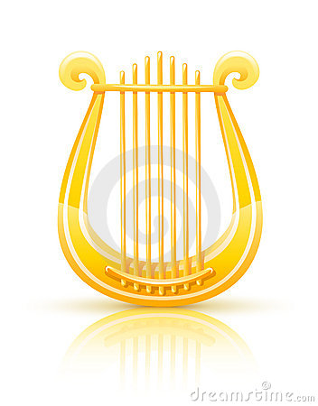 Greek Golden Ly... Music Instruments Clipart Black And White