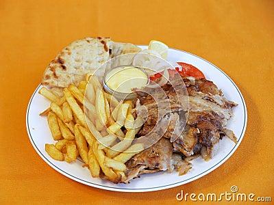 Greek Gyros meal
