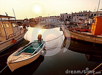 Greek harbor or seaport