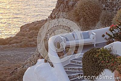 Greek home on coastline