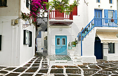 Greek houses at Mykonos island