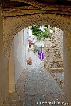 Free Greek Island Alley Royalty Free Stock Photo - 20324645