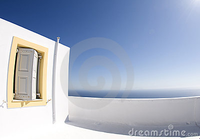 Greek island architecture  sea view