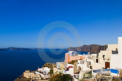 greek island architecture sea view santorini