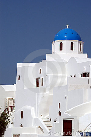 Free Greek Island Church Royalty Free Stock Photography - 1465647
