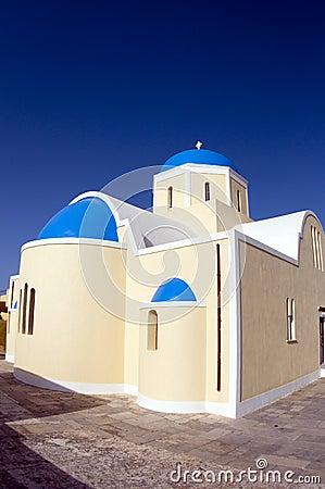 Greek island church santorini