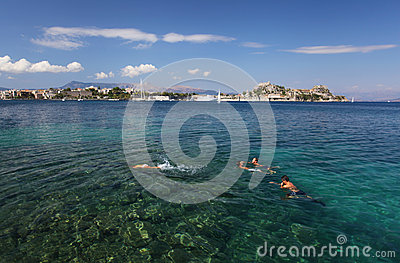 The Greek island of Corfu Editorial Stock Image