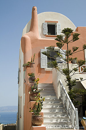 Greek island cyclades house