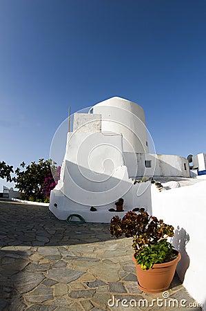 Greek island cyclades house