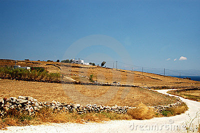 Greek island landscape