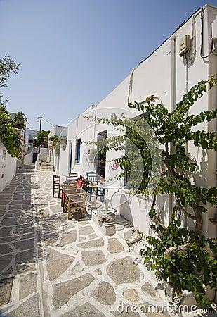 Greek island street scene