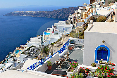 Greek Island Village - Santorini