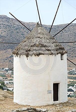 Greek island windmill Ios Cyclades