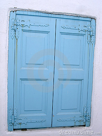 Greek islands: the blue windows detail