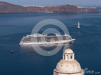 Greek Islands Santorini Cruise Ship