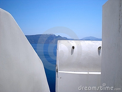 Greek islands: Santorini vaulted houses