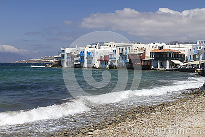 Greek Islands Series - Mykonos Editorial Stock Photo