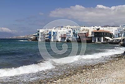Greek Islands Series - Mykonos Editorial Stock Photo