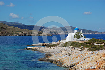Greek islands, small church amorgos