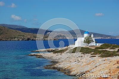 Greek islands, small church amorgos