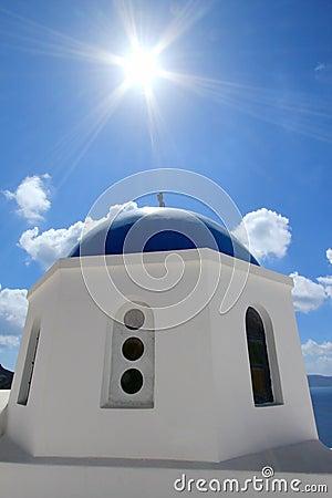 Greek orthodox church in Santorini island, Greece
