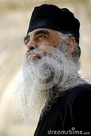 Greek Orthodox Priest, Jerusalem Editorial Stock Image
