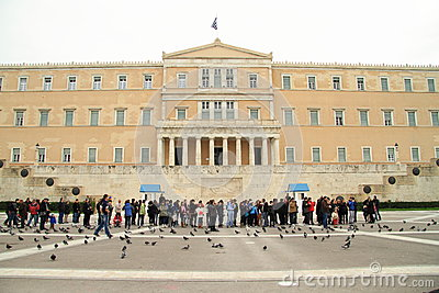 Greek parliament Editorial Stock Image