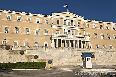 The Greek parliament in Athens city