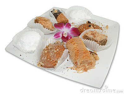 Greek Pastries With Flower
