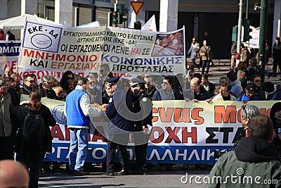 Greek private sector strike Editorial Photo