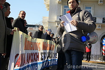 Greek private sector strike Editorial Stock Image