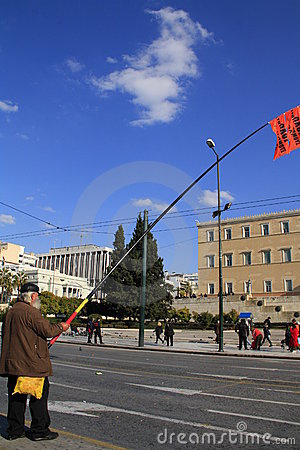 Greek private sector strike Editorial Photography