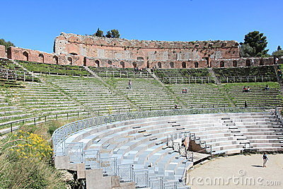 Greek-Roman theater, landmark in Taormina Editorial Image
