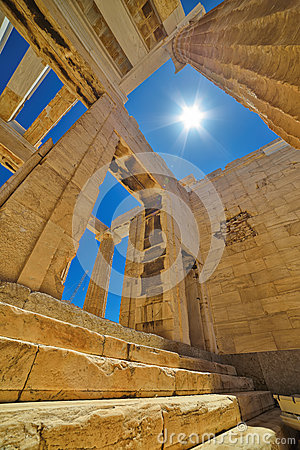 Free Greek Ruins Of Parthenon On The Acropolis In Athens, Greece Royalty Free Stock Image - 41549516