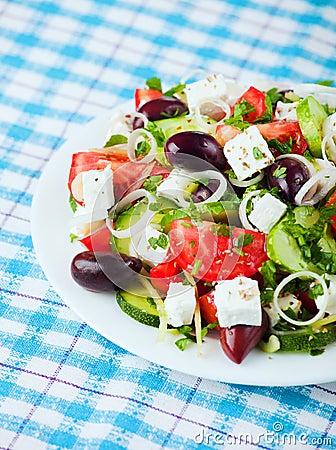 Free Greek Salad Royalty Free Stock Photography - 20969787