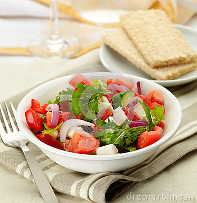 Free Greek Salad Royalty Free Stock Images - 27526939