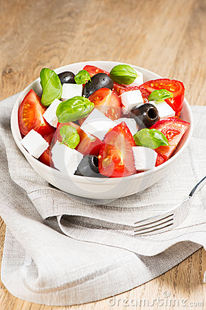 Greek Salad In Bowl Royalty Free Stock Photography - Image: 28810927