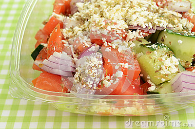 Greek salad to go