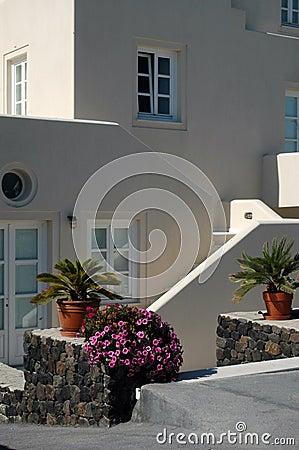 Greek Santorini Island scene