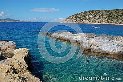 Greek sea, amorgos island